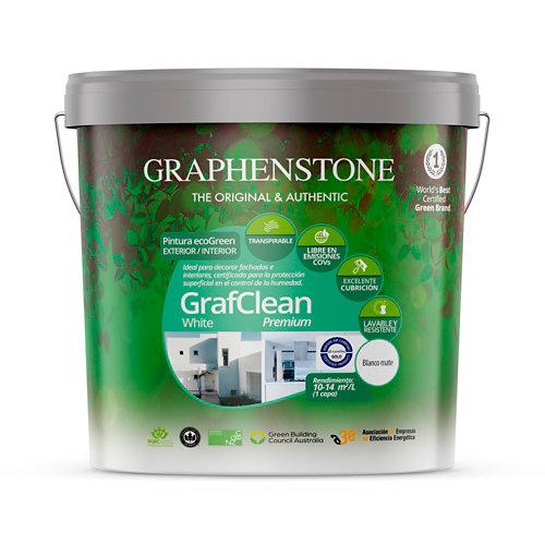 Pintura grafclean premium graphenstone 15l blanco