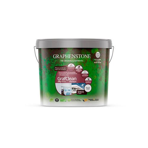 Pintura grafclean silky premium graphenstone 4l blanco