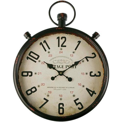 Reloj de pared redondo marrón quo de 44 cm