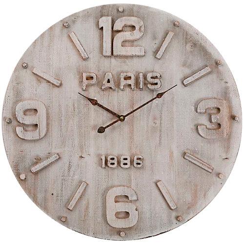 Reloj de pared redondo beige quo de 60 cm