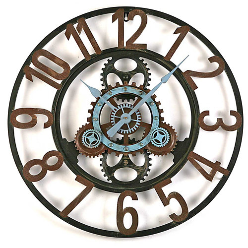 Reloj de pared redondo marrón quo de 60 cm