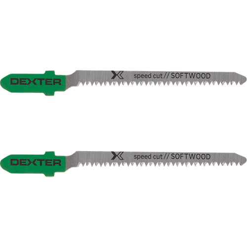 Juego de hojas de sierra dexter para madera rapido y basto de 76.7 mm