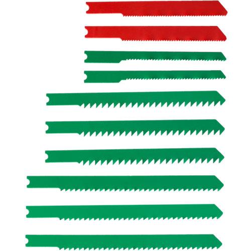 10 hojas de sierra para madera y metales mod. u surtido