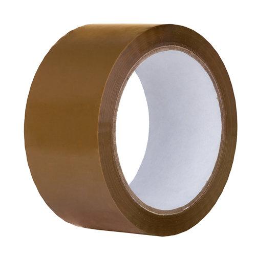 Cinta embalar adhesiva marrón 66mx48mm