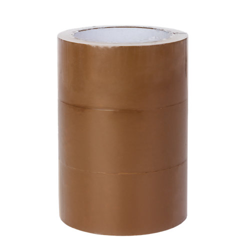 Pak de 3 cintas de embalar adhesiva marrón 66mx48 mm