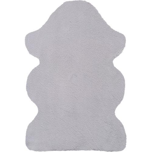 Alfombra fox gris plata 60x90 cm