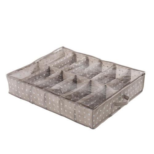 Bajo cama con 12 huecos de 15x76x60 cm