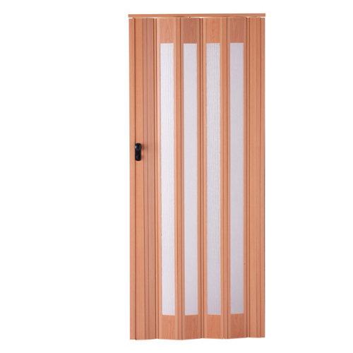 Puerta plegable de pvc roble 85 x 205 cm.