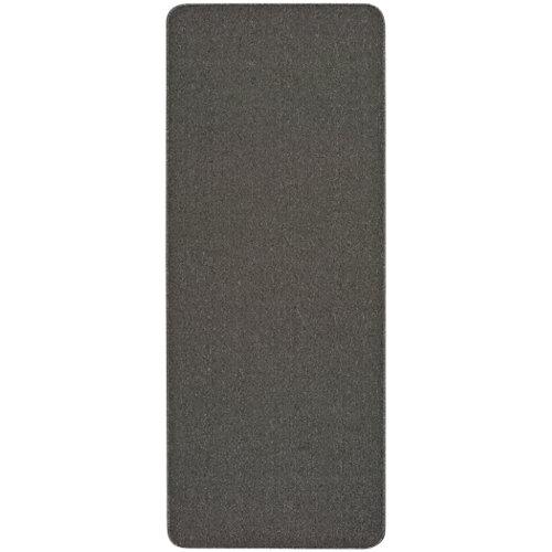 Alfombra pasillera gris poliéster leila liso gris 80 x 250cm