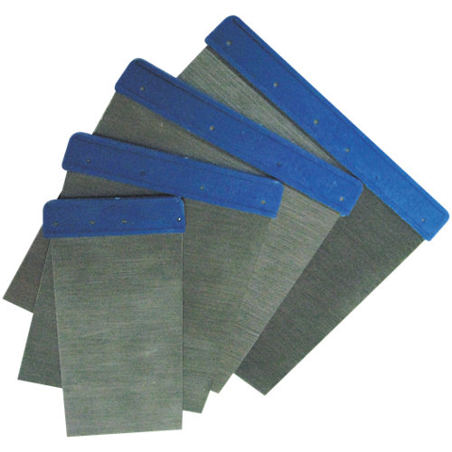 4 espátulas de inox carrocero 5-8-10-12 cm