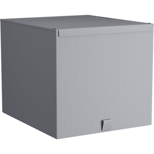 Caja de tela m gris claro 42x36x33cm spaceo home
