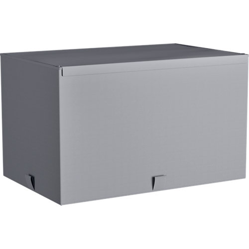 Caja spaceo home gris claro l 56x36x33cm