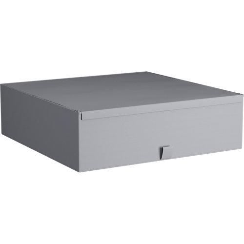 Caja de tela xl gris claro 56x56x16,5cm spaceo home