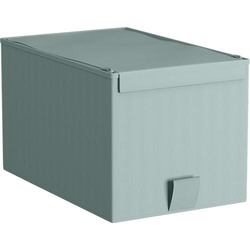 Caja de tela xs aguamarina 28x18x16,5cm spaceo home