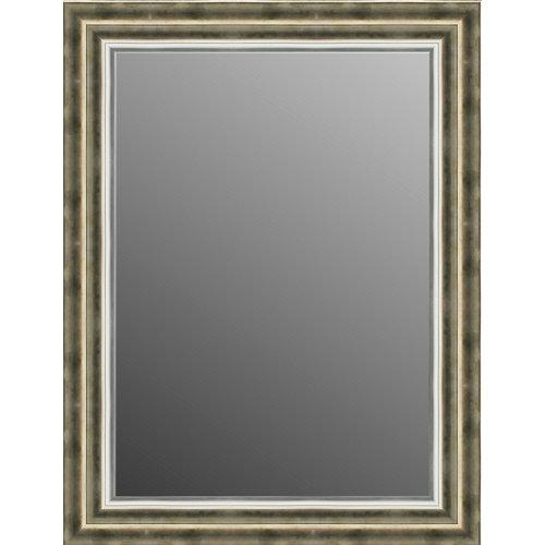 Espejo rectangular puntas dorado 84 x 64 cm