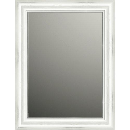 Espejo rectangular puntas blanco 84 x 64 cm