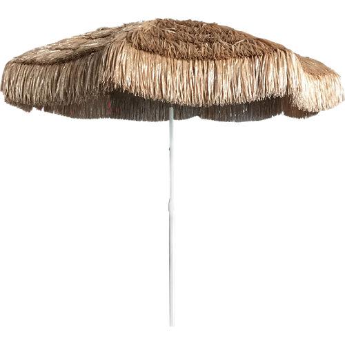 Parasol redondo de acero hawai marrón 200x200 cm