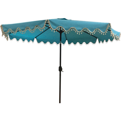 Parasol octogonal de acero varkala azul 270x270 cm