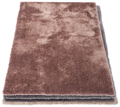 Alfombra Shaggy Lucca Bronce · LEROY MERLIN