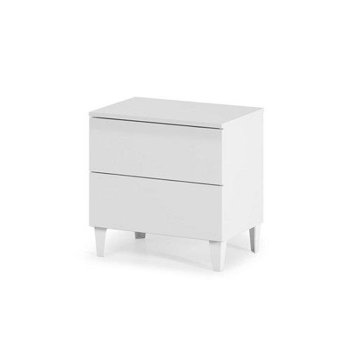 Cajonera 2 cajones serie loft blanca brillo 49x50x34cm (altoxanchoxfondo cm)