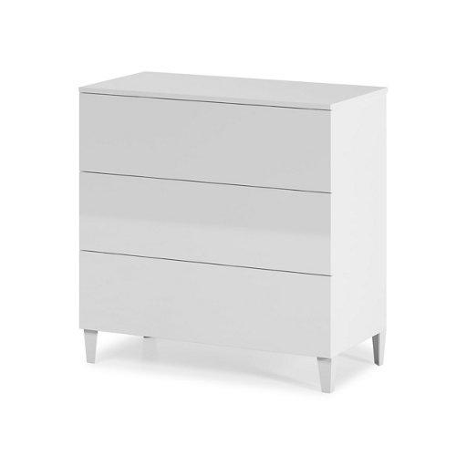 Cajonera 3 cajones serie loft blanca brillo 76x80x40cm (altoxanchoxfondo cm)