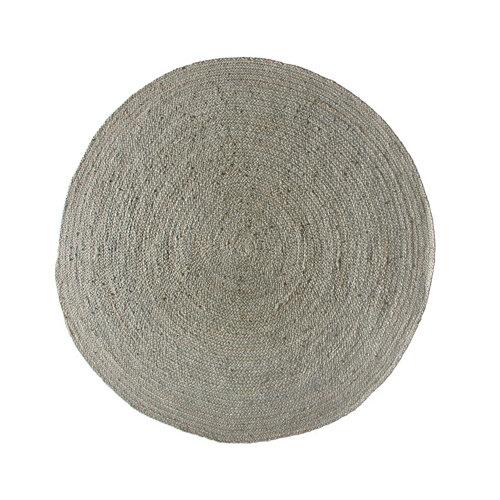 Alfombra gris yute gris redonda 90 x 90cm