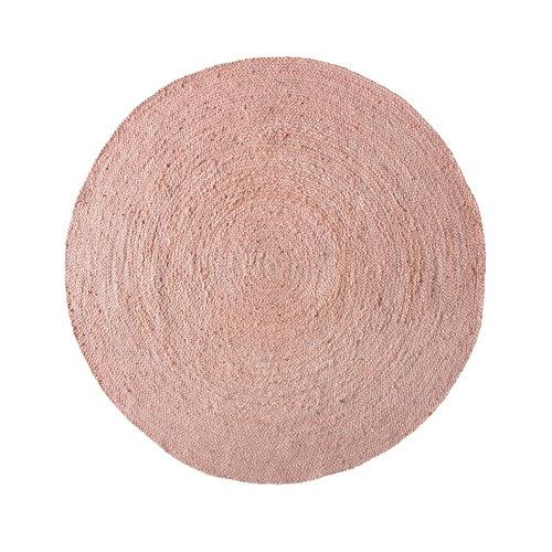 Alfombra rosa yute rosa redonda 140 x 140cm