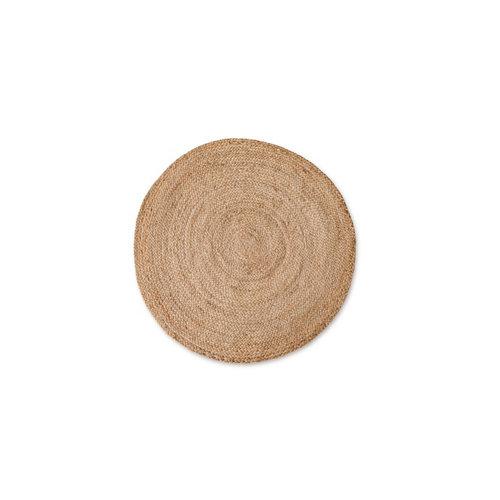 Alfombra beige yute circular 90 x 90cm