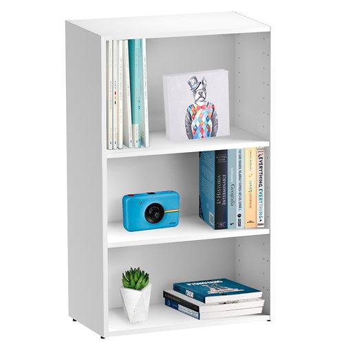 Librería estantería con dos baldas spaceo home blanco 60x100x30 cm