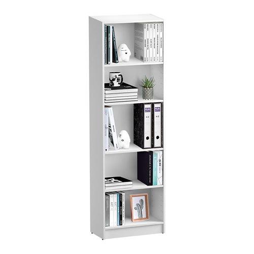 Librería estantería con cuatro baldas spaceo home blanco 60x200x30 cm