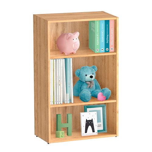 Librería estantería con dos baldas spaceo home roble 60x100x30 cm
