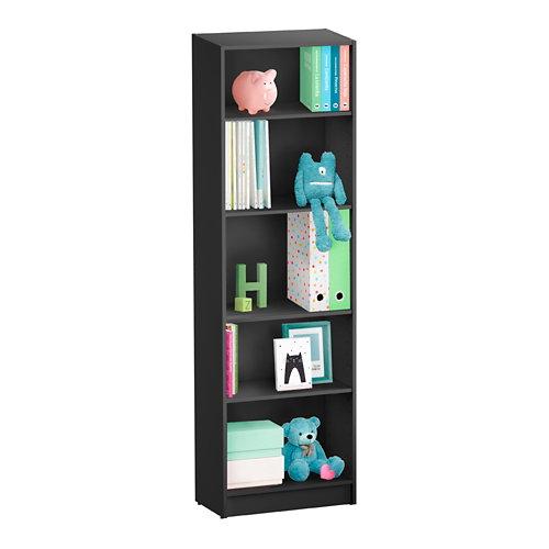 Librería estantería con cuatro baldas spaceo home gris 60x200x30 cm