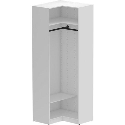 Módulo de armario de rincón spaceo home blanco 87x240x45 cm