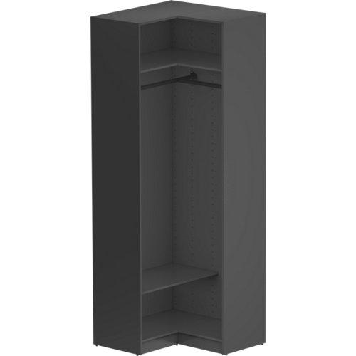 Módulo de armario de rincón spaceo home gris 87x240x45 cm