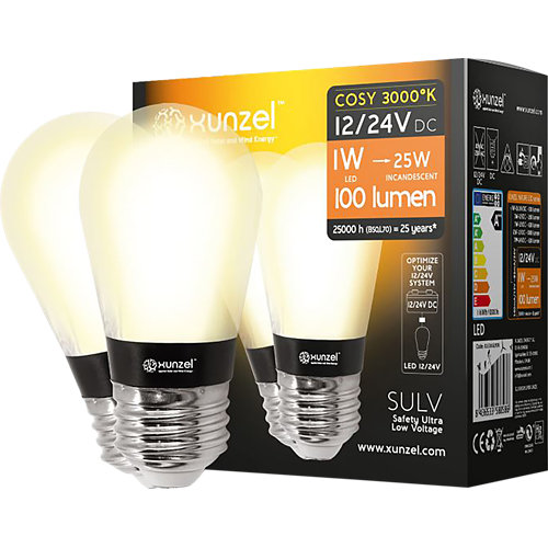 Pack 2 x bombillas 12/24v nature-led-xunzel-1w cosy