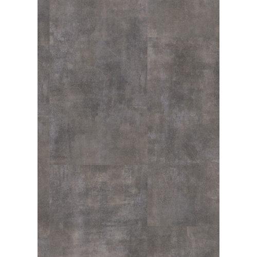 Loseta vinílica clic gerflor intenso industry, estilo hormigón, color gris