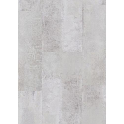 Loseta vinílica clic gerflor intenso gotha clear, estilo hormigón, color blanco