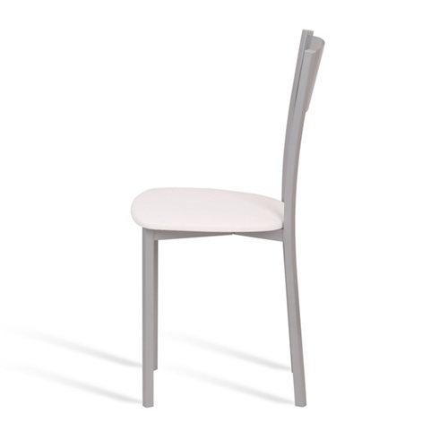 Silla de cocina portus vainilla asiento blanco