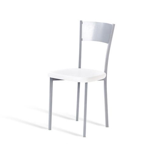 Silla de cocina portus limao asiento blanco