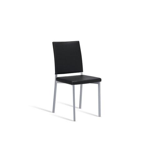 Silla de cocina portus canela asiento y respaldo negro