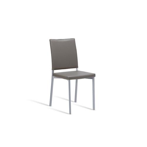 Silla de cocina portus canela asiento y respaldo gris