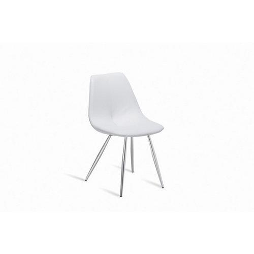 Silla de cocina portus pluma asiento blanco