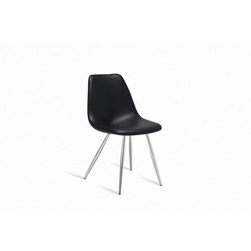 Silla de cocina portus pluma asiento negro