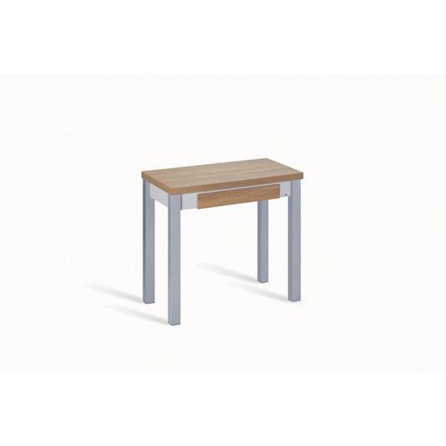 Mesa de cocina extensible madera livro de 40 a 80 cm beige