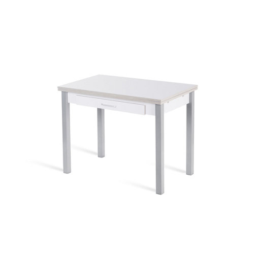 Mesa cocina extensible madera jazmin de 100 a 150 cm blanco