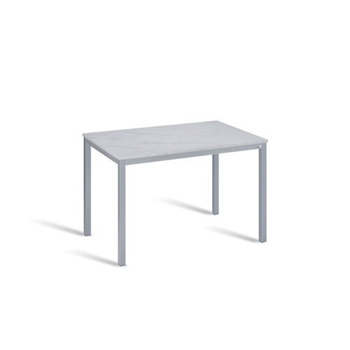 Mesa de cocina fija de madera iris de 110x70 cm gris