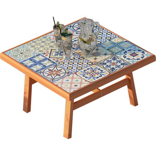 Mesa de madera soho marrón de 70x40x70 cm