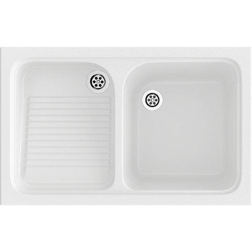 Lavadero enc 1s+e 80,2x50,5 cuarzo blanco