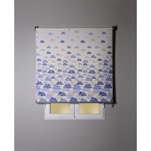 Estor enrollable nubes azul 165/169x250cm