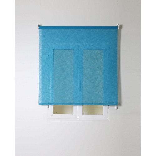 Estor enrollable rustipol azul turquesa 105/109x250cm